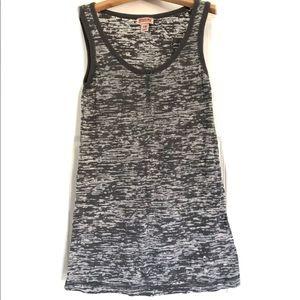 Mossimo grey/white burnout tank top, xs